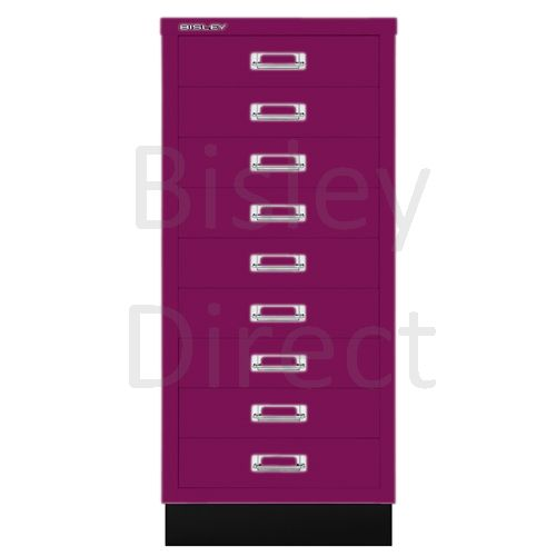 Bisley A3 9 drawer mulitdrawer H94 W 35 D 43.2cm 114-be2-Fuschia