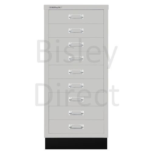 Bisley A3 9 drawer mulitdrawer H94 W 35 D 43.2cm 114-av7-LightGrey