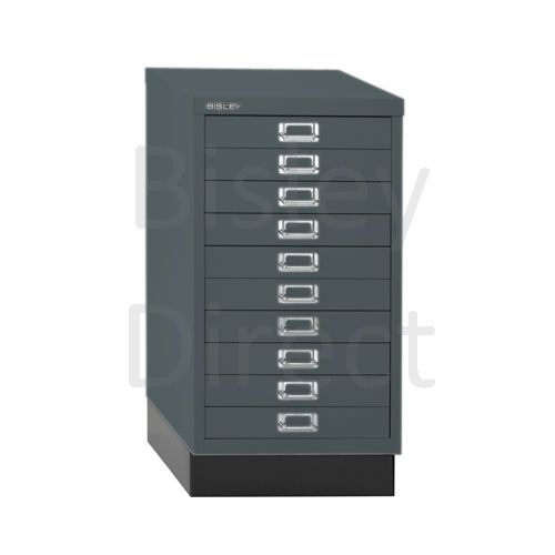 Bisley A3 10 drawer mulitdrawer H67 W 35 D 43.2cm 116-aa3-Anthracite