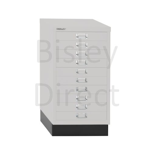 Bisley A3 10 drawer mulitdrawer H67 W 35 D 43.2cm 116-av7-LightGrey