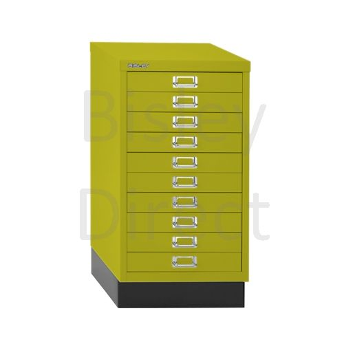 Bisley A3 10 drawer mulitdrawer H67 W 35 D 43.2cm 116-bp8-Mimosa