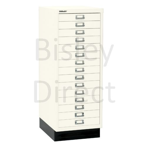 Bisley A3 15 drawer mulitdrawer H94 W 35 D 43.2cm 118-ab9-Chalk