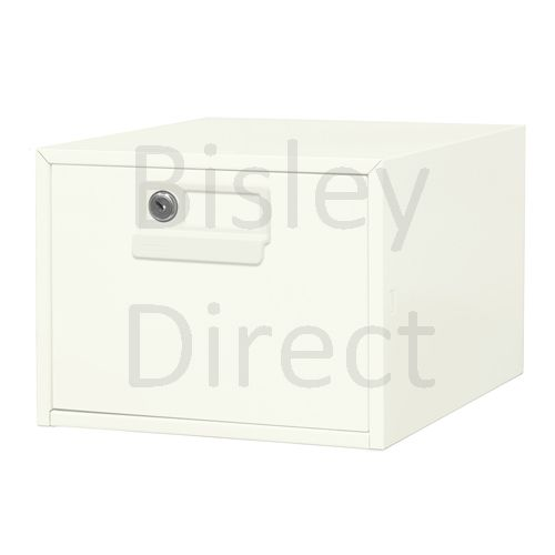 130L-AB9-Chalk Bisley FCB15- A5 Card Index 1 Locking Drawer 20cm High 27.1cm wide 404.3cm deep