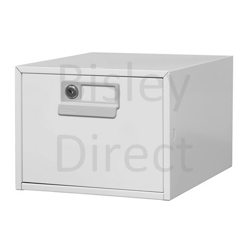 130L-AV4-Goose Grey Bisley FCB15- A5 Card Index 1 Locking Drawer 20cm High 27.1cm wide 404.3cm deep