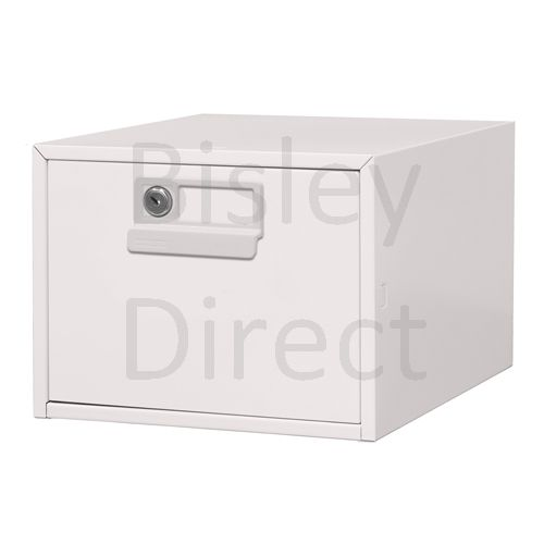 130L-AV7-Light Grey Bisley FCB15- A5 Card Index 1 Locking Drawer 20cm High 27.1cm wide 404.3cm deep