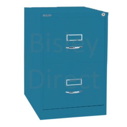 Bisley BS2C Classic Front Filing Cabinets 2 drawer H 71 W 47 D 62 cm 162-bp5-Azure
