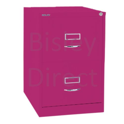 Bisley BS2C Classic Front Filing Cabinets 2 drawer H 71 W 47 D 62 cm 162-be2-Fuschia