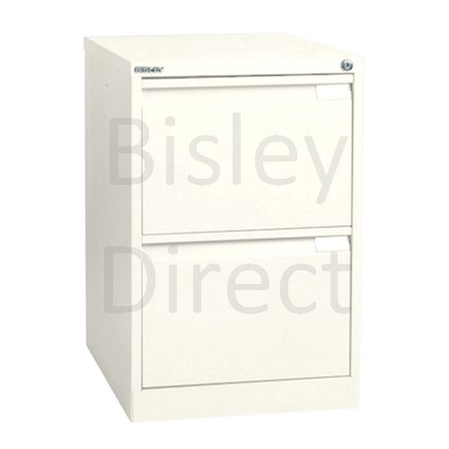 Bisley BS2A4 A4 2 drawer Filing Cabinet H 71 W 41 D 62cm 3623-ab9-Chalk