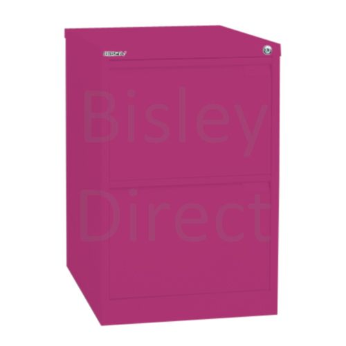 Bisley BS2E Flush Front Filing Cabinets 2 drawer H 71 W 47 D 62 cm 1623-be2-Fuschia