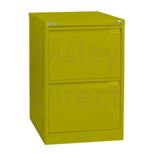 Bisley BS2E Flush Front Filing Cabinets 2 drawer H 71 W 47 D 62 cm 1623-bp8-Mimosa