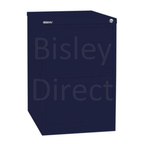 Bisley BS2E Flush Front Filing Cabinets 2 drawer H 71 W 47 D 62 cm 1623-ay7-OxfordBlue