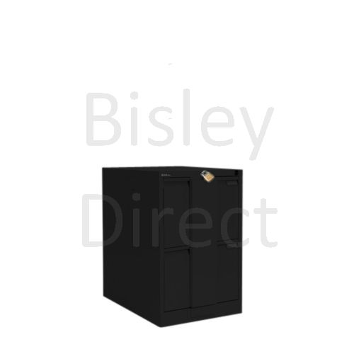 Bisley BS2E Flush Front Filing Cabinets 2 drawer H 71 W 47 D 62 cm 16230-av1-Black