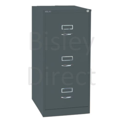 Bisley BS3C Classic Front Filing Cabinets 3 drawer H 101 W 47 D 62 cm 163-aa3-Anthracite