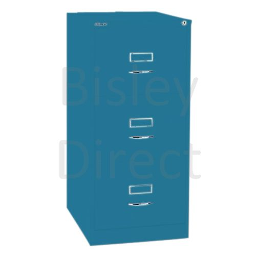 Bisley BS3C Classic Front Filing Cabinets 3 drawer H 101 W 47 D 62 cm 163-bp5-Azure