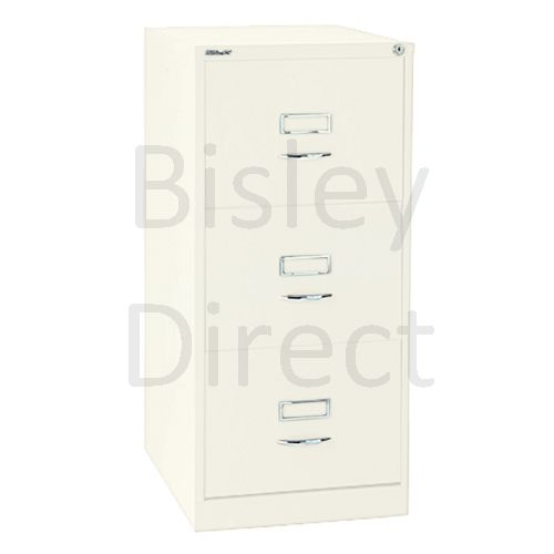 Bisley BS3C Classic Front Filing Cabinets 3 drawer H 101 W 47 D 62 cm 163-ab9-Chalk