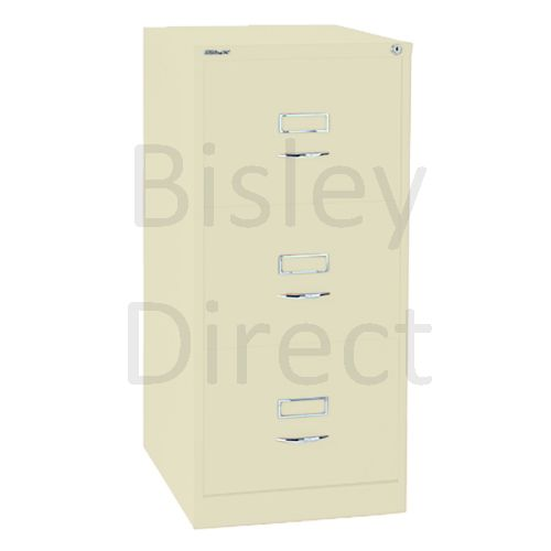 Bisley BS3C Classic Front Filing Cabinets 3 drawer H 101 W 47 D 62 cm 163-av6-Cream