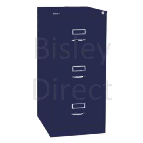 Bisley BS3C Classic Front Filing Cabinets 3 drawer H 101 W 47 D 62 cm 163-ay7-OxfordBlue