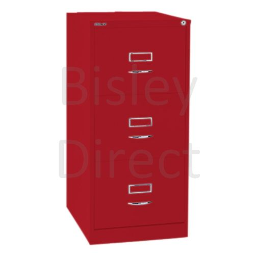 Bisley BS3C Classic Front Filing Cabinets 3 drawer H 101 W 47 D 62 cm 163-ay8-CardinalRed