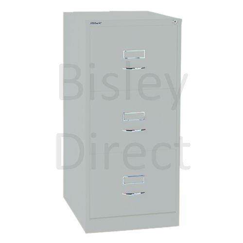 Bisley BS3C Classic Front Filing Cabinets 3 drawer H 101 W 47 D 62 cm 163-arn-Silver