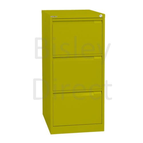 Bisley BS3A4 A4 3 drawer Filing Cabinet H 101 W 41 D 62cm 3633-bp8-Mimosa