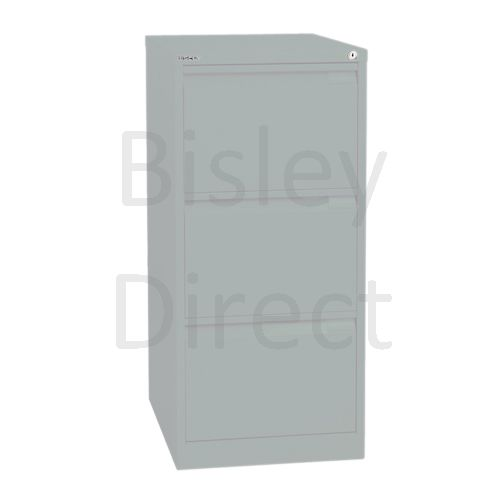 Bisley BS3E Flush Front Filing Cabinets 3 drawer H 101 W 47 D 62 cm 1633-arn-Silver