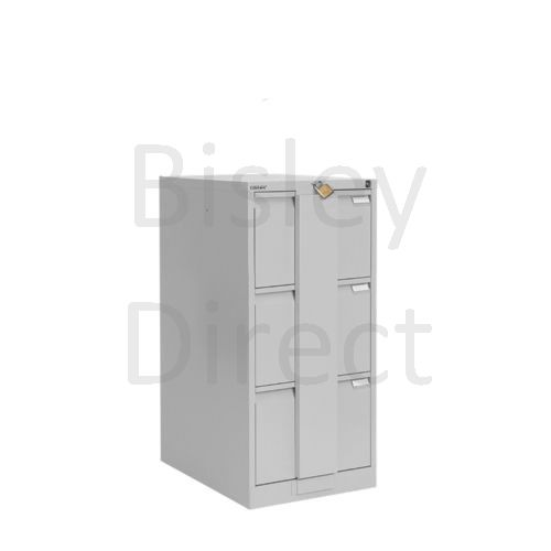 Bisley BS3E Security Flush Front Filing Cabinets 3 drawer H 101 W 47 D 62 cm 16330-av4-GooseGrey