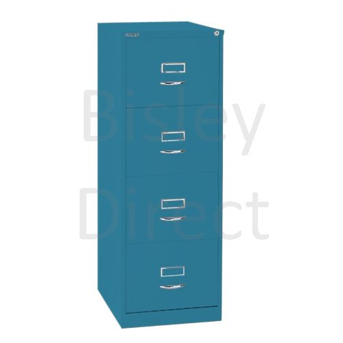 Bisley BS4C Classic Front Filing Cabinets 4 drawer H 131 W 47 D 62 cm 164-bp5-Azure