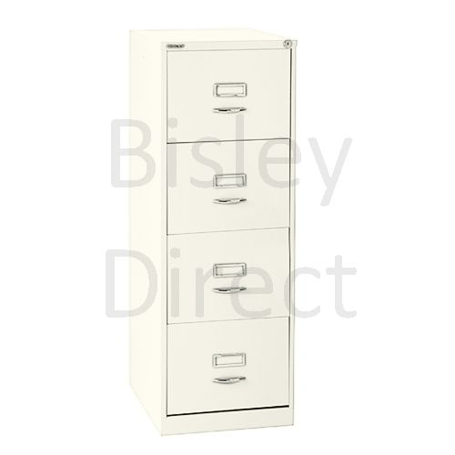 Bisley BS4C Classic Front Filing Cabinets 4 drawer H 131 W 47 D 62 cm 164-ab9-Chalk