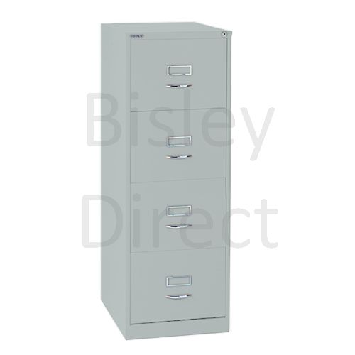 Bisley BS4C Classic Front Filing Cabinets 4 drawer H 131 W 47 D 62 cm 164-arn-Silver