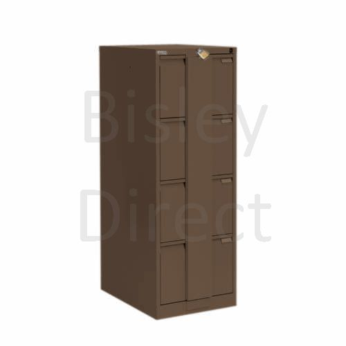 Bisley BS4E Security Flush Front Filing Cabinets 3 drawer H 131 W 47 D 62 cm 16430-av5-Coffee