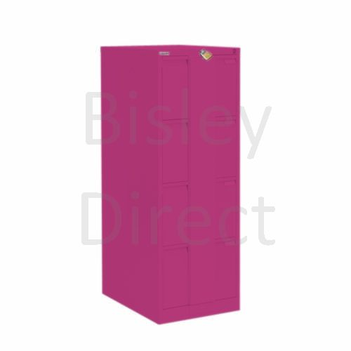 Bisley BS4E Security Flush Front Filing Cabinets 3 drawer H 131 W 47 D 62 cm 16430-be2-Fuschia