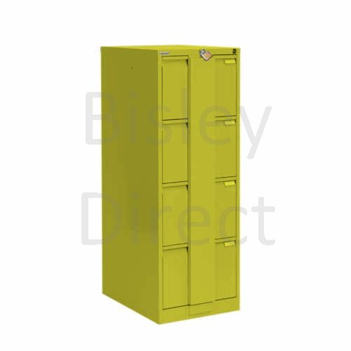 Bisley BS4E Security Flush Front Filing Cabinets 3 drawer H 131 W 47 D 62 cm 16430-bp8-Mimosa