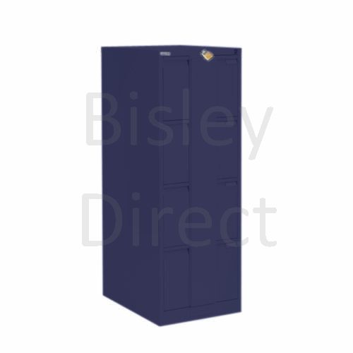 Bisley BS4E Security Flush Front Filing Cabinets 3 drawer H 131 W 47 D 62 cm 16430-ay7-OxfordBlue