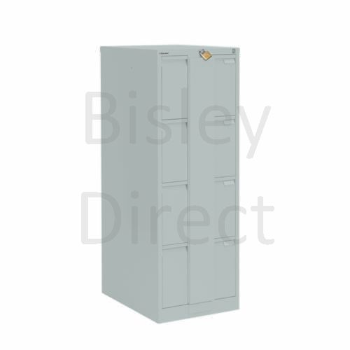 Bisley BS4E Security Flush Front Filing Cabinets 3 drawer H 131 W 47 D 62 cm 16430-arn-Silver
