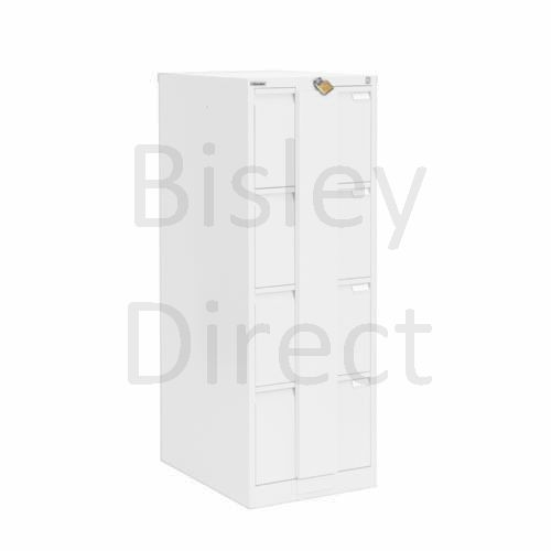 Bisley BS4E Security Flush Front Filing Cabinets 3 drawer H 131 W 47 D 62 cm 16430-ba5-TrafficWhite