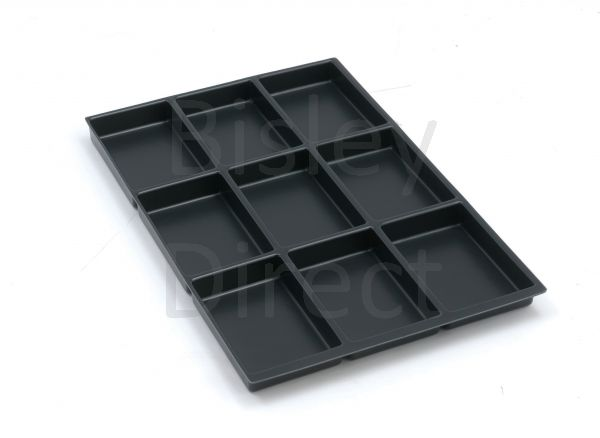 Bisley A4 9 compartment tray height 22mm 222P1 black