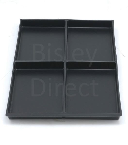 Bisley A4 4 compartment tray height 22mm 223P1 black