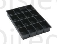 Bisley A4 16 compartment tray height 51mm 225P1 black