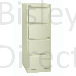 Bisley BS4A4 A4 4 drawer Filing Cabinet H 101 W 41 D 62cm 3643-av6-Cream