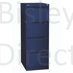 Bisley BS4A4 A4 4 drawer Filing Cabinet H 101 W 41 D 62cm 3643-ay7-OxfordBlue