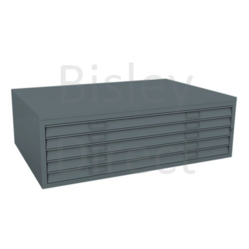 Bisley A0  5 drawer Mid Section Plan file (no top) H 40 W 136 D 93 cm 460-aa3-Anthracite