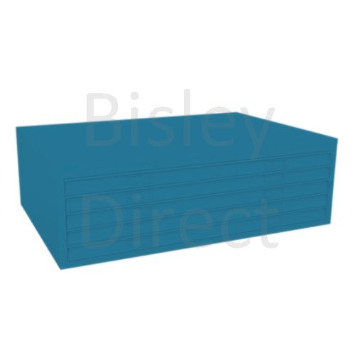 Bisley A0  5 drawer Mid Section Plan file (no top) H 40 W 136 D 93 cm 460-bp5-Azure