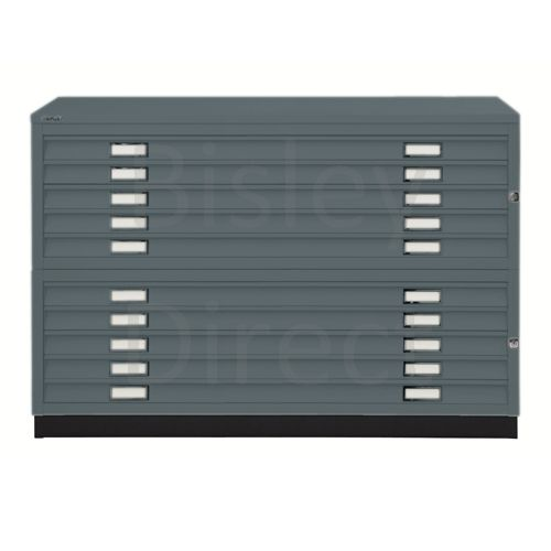 Bisley A0  10 drawer Plan file  H 910 W 136 D 93 cm 461/462-aa3-Anthracite