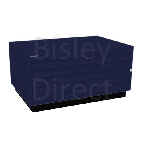 Bisley A1  5 drawer Plan file complete with top and plinth  H 51 W 101 D 69 cm 473-ay7-OxfordBlue