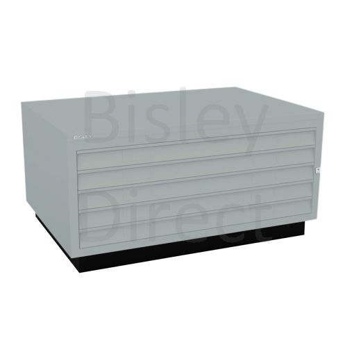 Bisley A1  5 drawer Plan file complete with top and plinth  H 51 W 101 D 69 cm 473-arn-Silver