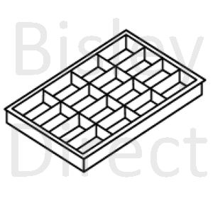 Bisley A4  16 compartment tray for some A4 drawers height 51mm 225P1 black