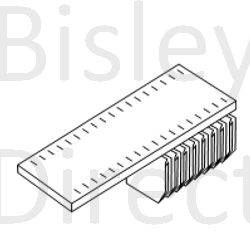 Bisley System tambour slotted Shelf + under shelf filing BIT10SSUPDPS-black