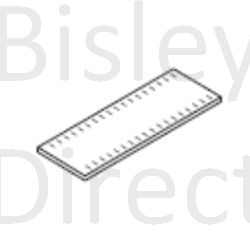Bisley Slotted Shelf, BBSPDP1:33 Black