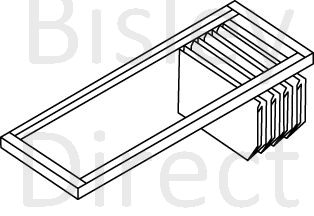 Bisley Lateral hanging File rail for 100cm Wide Essential Tambour