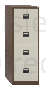 CC4H1A-AV5 AV6-Coffee Cream Bisley 4 Drawer Contract Filin